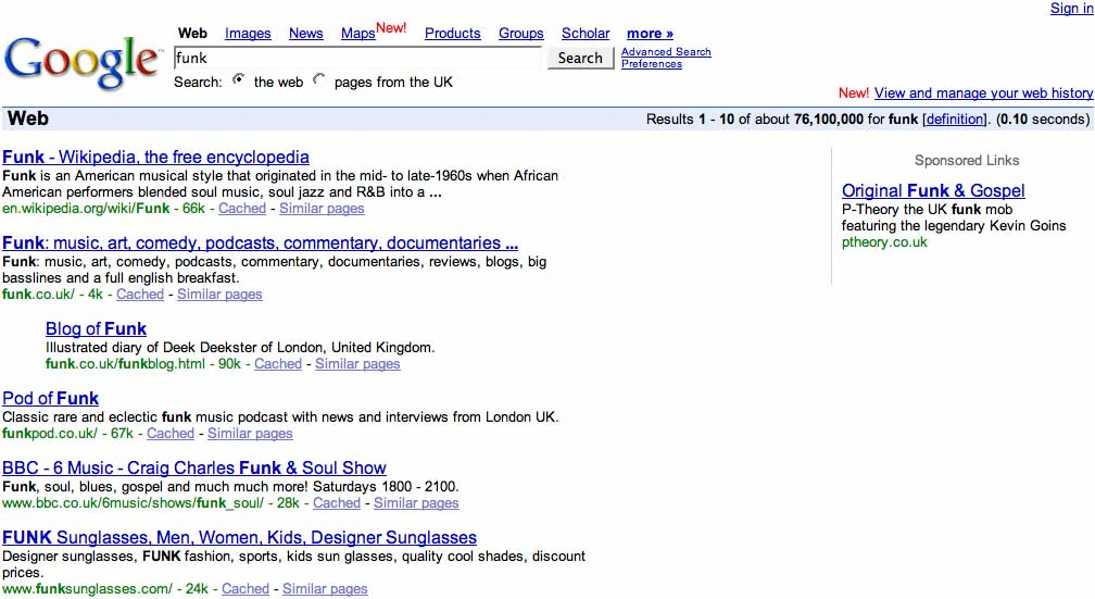 FUNK: we make nice stuff happen: Funky Google Ghandi